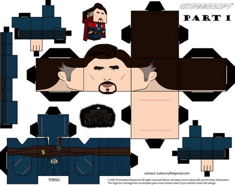 Doctor Strange Marvel Cubeecraft Part 1 By Jagamen