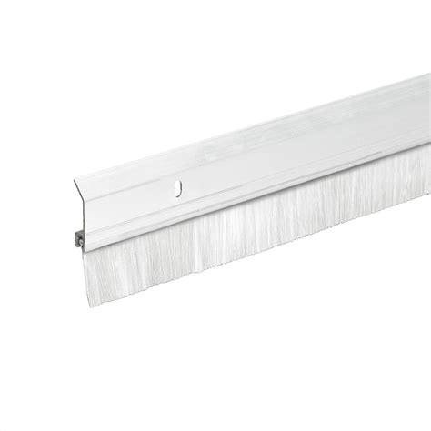 king door sweep king 2 in x 36 in heavy duty aluminum brush white