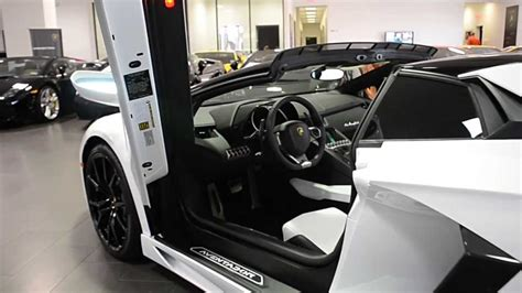 lamborghini aventador lp700 4 roadster interior 2013 lamborghini aventador lp 700 4 roadster bianco isis dla01726 youtube