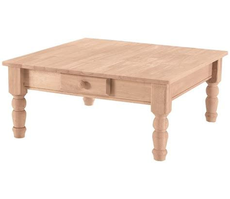 turned table legs unfinished turned leg square unfinished coffee table 164 88 36 quot x 36