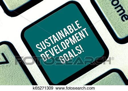 Handwriting text Sustainable Development Goals Concept