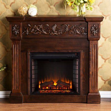 southern enterprises calvert carved electric fireplace