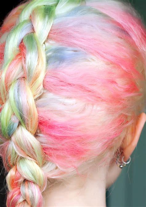 Pastel Rainbow Braid Hair Colors Ideas