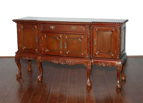Chippendale Sideboard by Vintage Solid Mahogany Chippendale Buffet Sideboard Server