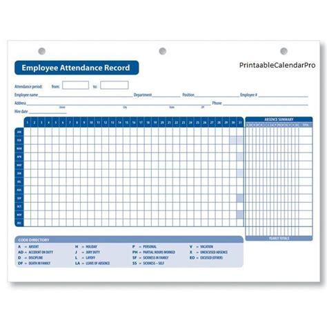 employee attendance calendar employee attendance