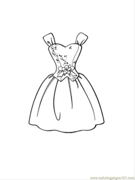 beautiful dress coloring page  clothing coloring