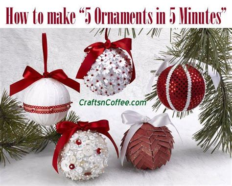 Excellent Diy Video! How To Make 5 Favorite Christmas