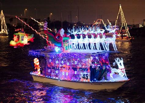 Boat Lights In Kemah by Co Op Power Magazine Travel Deck The Bows At The