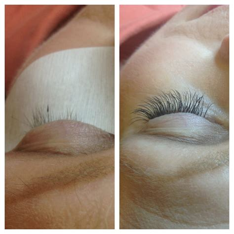Before: lashes that had been damaged from eyelash curler ...