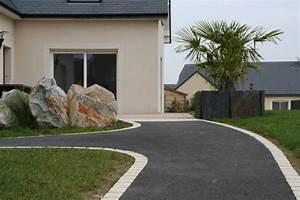 amenagement contemporain descente de garage cloture bord With amenager une entree exterieure de maison 7 comment amenager un jardin zen deco cool