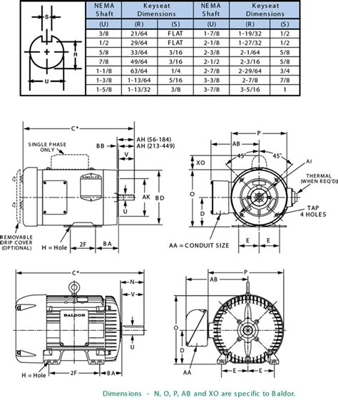 Electric Motor Dimensions by Compressor Conversion Selection Guide Electric Motors