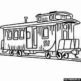 Caboose Locomotive Kolorowanki Tsgos Divyajanani Clker Darmowe Szybkie Pociągi sketch template