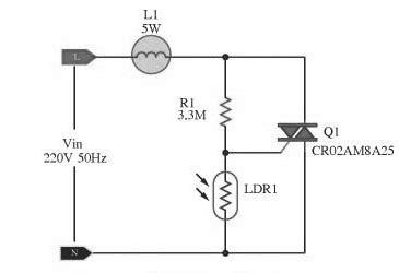 Automatic Lamp Dimmer Circuit Using Triac Gadgetronicx