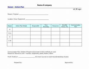 Inspirational And Blank Business Action Plan Template For