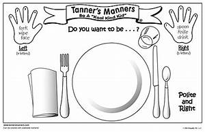 Place Setting Placemat Printable Sketch Coloring Page