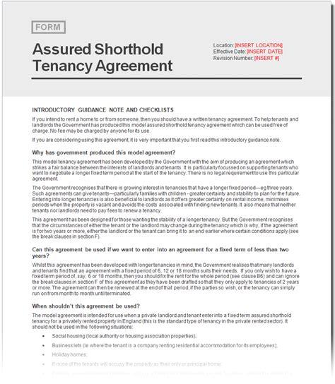 assured shorthold tenancy agreement document