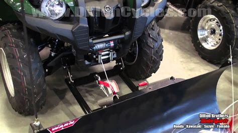 warn winch plow blade demonstration yamaha grizzly