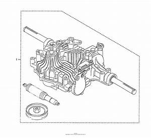 Husqvarna Tuff Torq K61 Transaxle Parts Diagram For Transaxle Kit Assy