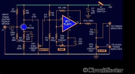 Guitar Preamplifier Circuit Using Top Circuits