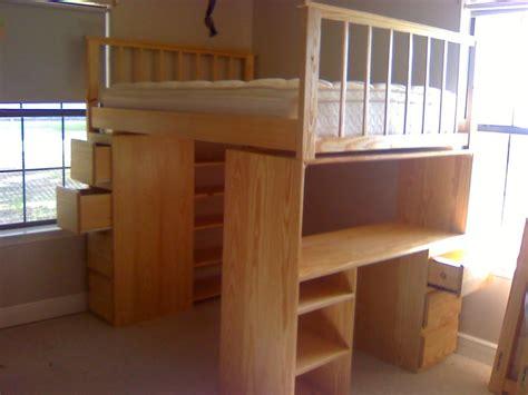 diy loft bed with desk full size loft bed plans with desk diy full size loft