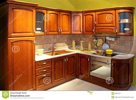 Cuisine En Bois Image Stock. Image Du Bois, Domestique