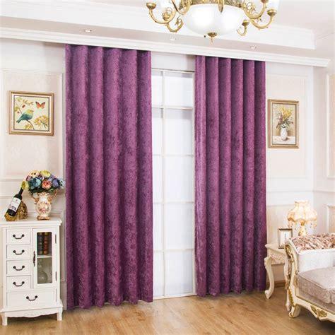 vorhänge im schlafzimmer vorhang uni lila aus chenille stoff im schlafzimmer
