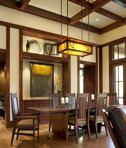 craftsman lighting dining room craftsman style lighting in traditional dining room