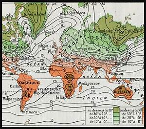 Temperature Air Current Map of The World | Antique Maps ...