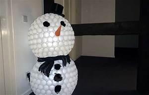 Basteln Mit Plastikbechern : schneemann aus plastikbechern der schneemann ohne schnee ~ Watch28wear.com Haus und Dekorationen