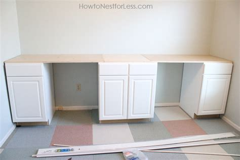 Kitchen Base Cabinet For Desk by Craft Room Desk Tutorial How To Nest For Less