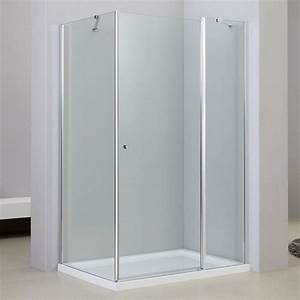 cabine de douche 1 porte battante 80x120cm et 90x120cm With porte douche battant 80