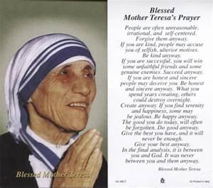 Prayer Mother Teresa Quotes. QuotesGram