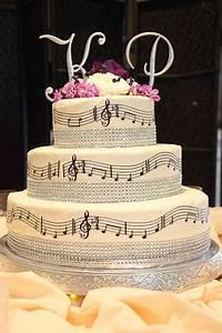Musique Arrivée Gateau Mariage : musical notes themed wedding cake cause we both love music wed gateau mariage id es de ~ Melissatoandfro.com Idées de Décoration
