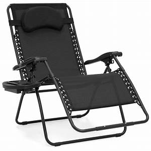 Best, Choice, Products, Oversized, Folding, Zero, Gravity, Outdoor, Reclining, Lounge, Patio, Chair, W, Cup