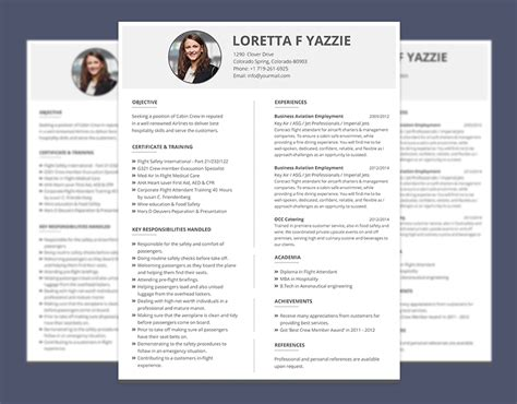 Airline Resume Format by Simple Resume Format For Cabin Crew Freshers Graphicslot
