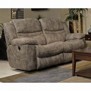 Catnapper Valiant Rocking Reclining Loveseat in Marble