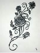 Black And Grey Roses V...