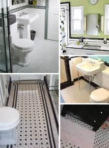 black and white tiled bathroom ideas black and white tile bathrooms done 6 different ways retro renovation