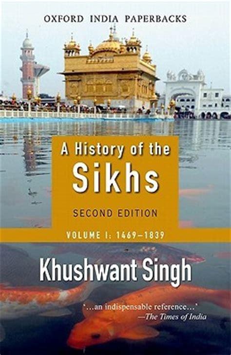 history   sikhs volume     khushwant singh