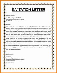 sample invitation letter template
