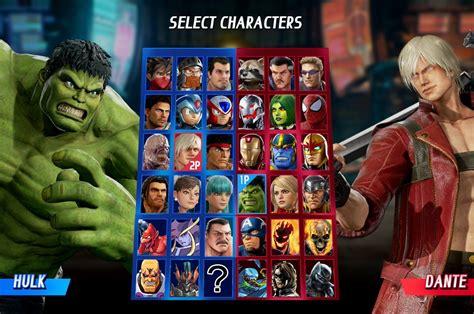 Marvel Vs Capcom Infinite Full Character Roster