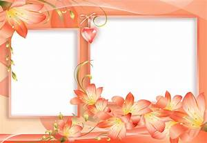 Orange and Yellow PNG Flowers Frame with Heart | Ramen ...