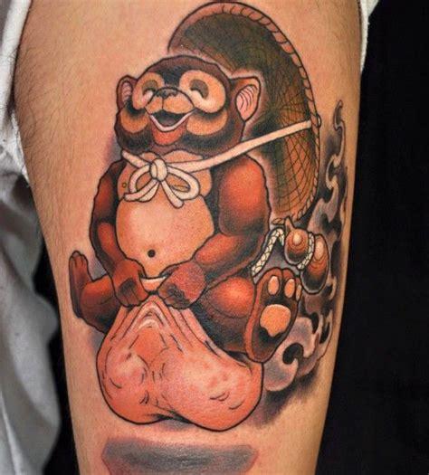 lucky  funny tanuki tattoos tattoos funny japan