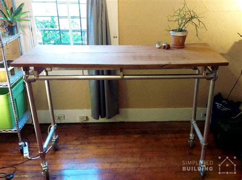 diy standing desk 37 diy standing desks built with pipe and kee kl