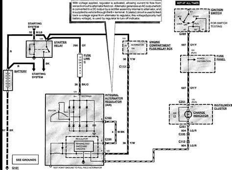1990 Ford F 250 Alternator Wiring Diagram by F250 Alternator Wiring Diagram Wiring Diagram Database