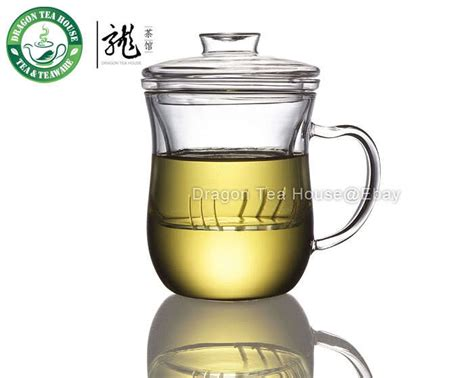 Clear Glass Mug With Lid & Infuser 300ml 10oz B 361-in