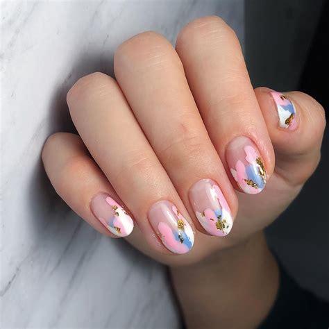 summer nail art  bright colored  stylish summer