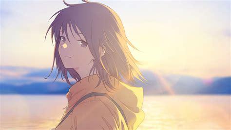Download 1920x1080 Anime Girl Profile View Sunlight Sea