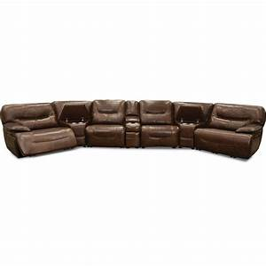 brown leather match 7 piece power reclining sectional sofa With 7 piece sectional sofa leather
