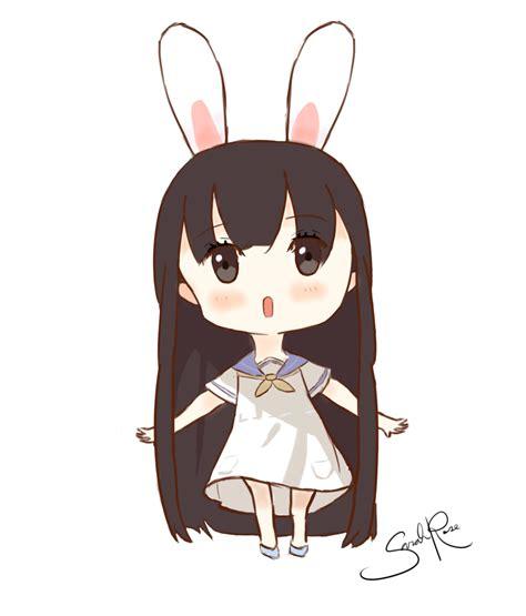 anime chibi chibi bunny by cursedcrown96 on deviantart